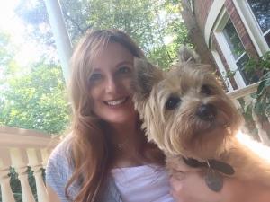 Laura and dog Pipsqueak
